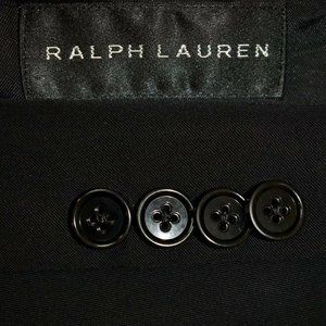 40R Ralph Lauren BLACK LABEL Solid Black blazer